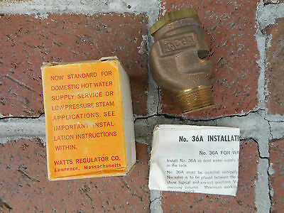 Nos Watts 36a 34 Vacuum Relief Valve W Box Instructions Aga Several Available