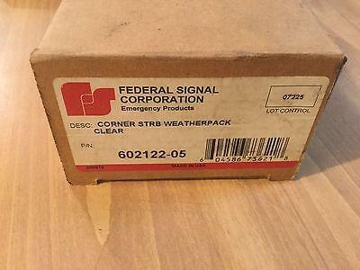 Federal Signal Corner Strobe Weatherpack Clear 602122-05