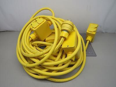 Woodhead 1301370017 03731 Multiple Outlet Box 14 Outlets - Nema 5-20 60 Ft 12-3