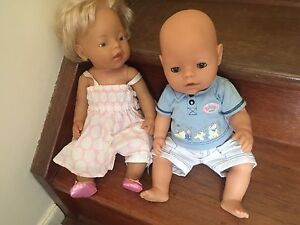 Baby born dolls x 2 magic eyes and other with hair gc Buderim Buderim Maroochydore Area Preview