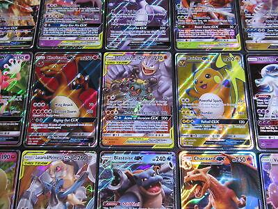 Pokemon GX Card Lot | 100 Official TCG Cards | GX Ultra Rare Included + Holos