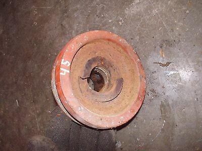 Allis Chalmers Wd Wd45 45 Tractor Orgnal Ac Main Engine Motor Crankshaft Pulley