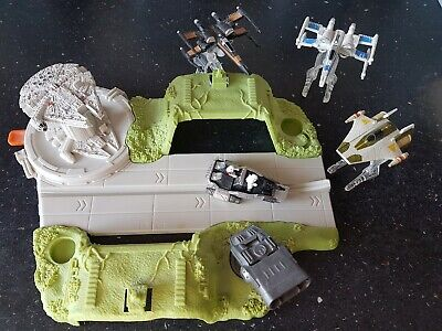 Star Wars Hot Wheels Die Cast Vehicles And Playset