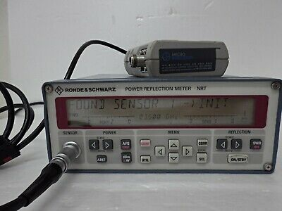 Rohde Schwarz Nrt Power Reflection Meter And Nrt-z44 Sensor 0.2-4ghz 300w