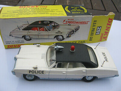 Repro Box Dinky Nr.251 USA Police Car