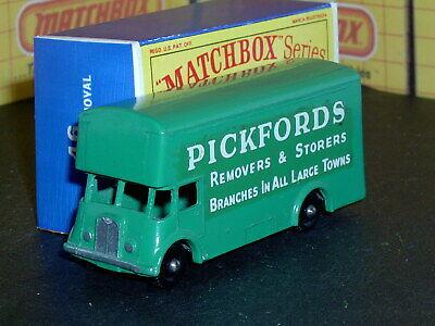 Matchbox Lesney Pickfords Removal Van 46 b7 green 9x36BPW SC18 EX/NM crafted box