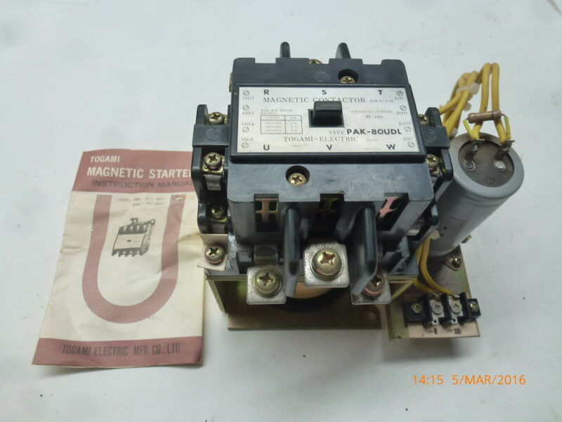 Togami PAK-80UDL Magnetic Contactor JEM-A10 200-550V 50Hz 80A 3ph NP-11479a New