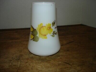 Frosted White Glass Chimney Electric Oil Lamp Hand Painted Replacement Shade