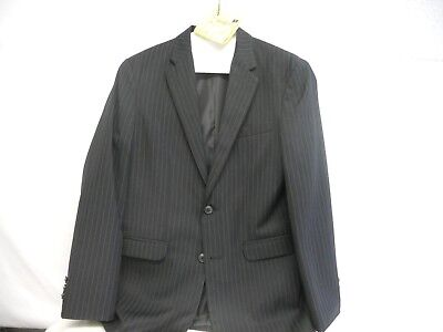 CHAPS Boys Black/White Pinstrip Suit Jacket Size 16R EUC Was $70 - Black Boys Suits