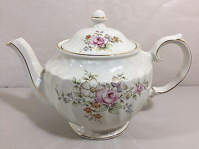 Vintage Windsor Floral Roses Teapot with Gold Trim (tea pot) Made in England