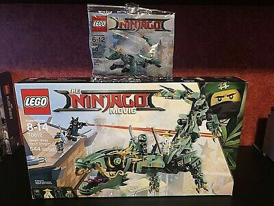 New Lego 70612 Ninjago Movie Green Ninja Mech Dragon & polybag - 100% Feedbk!!!