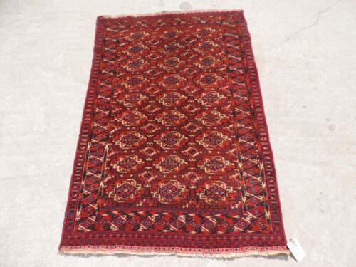 3x5ft. Rare Antique Turkoman Bokharra Wool Rug
