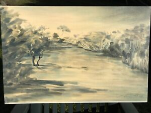 Oil Painting landscape scene central Victoria Blairgowrie Mornington Peninsula Preview