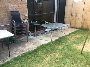 Glass table with 4 chairs Georges Hall Bankstown Area Preview