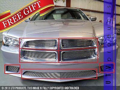 GTG 2011 - 2014 Dodge Charger 7PC Polished Overlay Billet Grille Grill Kit
