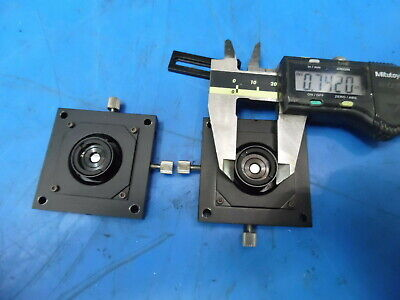 Lot Of 2 2 X 2 X Y Adjustable Mirror Or Laser Optic Positioners