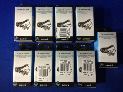 Lot of 9 GARMIN PC Interface Cables 010-10206-00