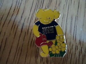NEW Collectible MARIE CURIE enamel pin badge - Bear watering daffodil flowers