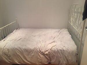 Elegant white double bed frame Bondi Junction Eastern Suburbs Preview