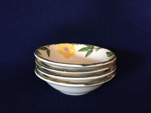 4 Vintage Franciscan Meadow Rose Cereal Bowls USA