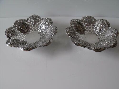 Antique Pierced Silver Bon Bon Dishes, James Dixon & Sons, Sheffield 1897