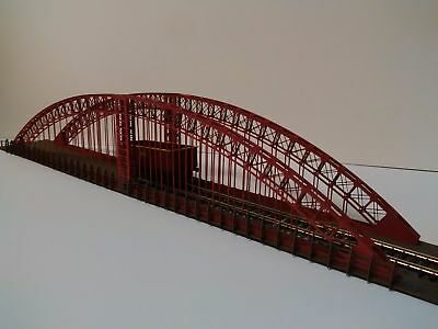 NEW Modelux OO Gauge Red Single Road Arch Suspension Bridge Oxidised Kit