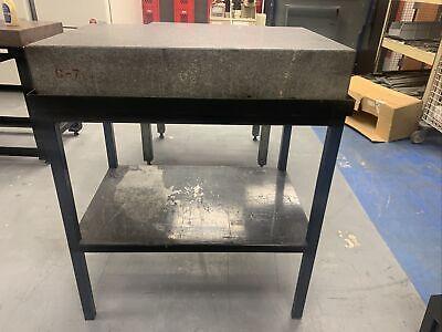 Rahn Granitru 36 X 24 X 6 Grade B Gray Granite Surface Plate W Ledge Stand