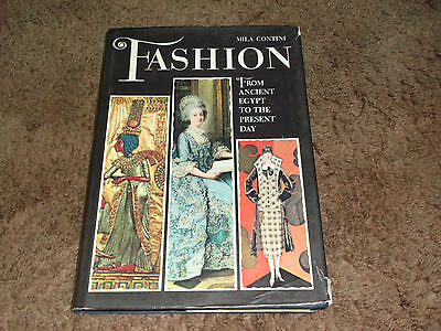 Fashion From Ancient Egypt To The Present Day Mila Contini 1965 HC DJ