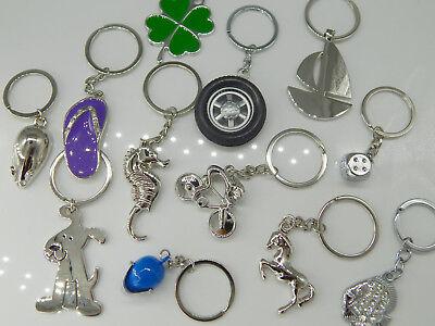 KONVOLUT 12 Schlüsselanhänger MIX Schlüsselringe silber wichteln Wiederverkauf