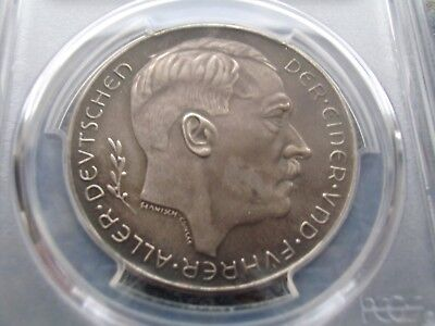Third Reich 1983 rare Pattern Silver Medal PCGSSP63 Bridge Lake Inn Austria C113