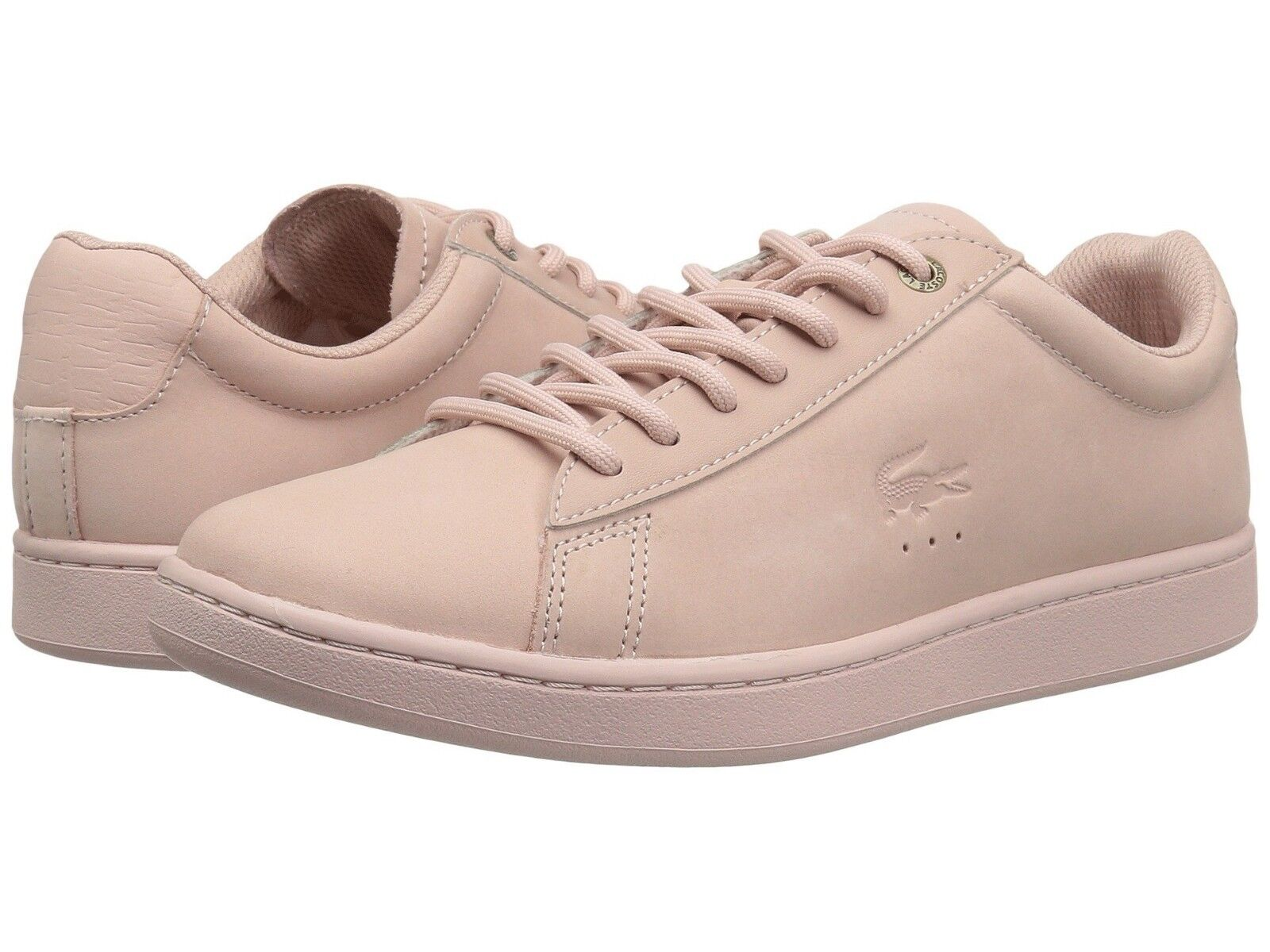Lacoste Carnaby Evo Men's Casual Croc Logo Pink Leather  Loafer Shoes Sneakers