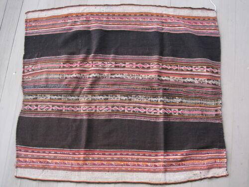 AUTHENTIC OLD BOLIVIAN Weaving MANTA AWAYO TARI Textile Cloth Bolivia Andes #12