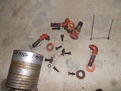 Farmall M Ih Tractor Origl Hydraulic Belly Pump Parts Ports Rare Chain Dip Stick