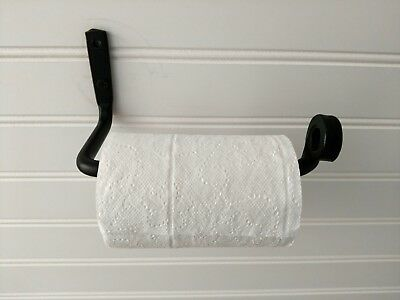- Amish forged wrought iron toilet tissue paper holder bar - strong & sturdy metal