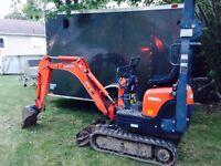Mini excavation 60$/h