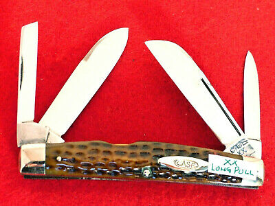RARE Case XX Tested Frame green bone long pull near mint congress 6488 LP knife