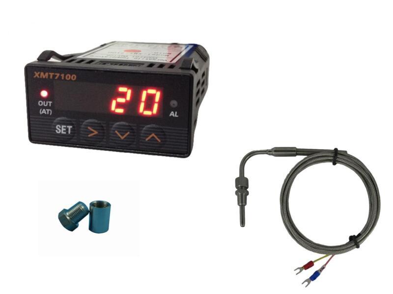 Combo EGT Exhaust Gauge (LED) with Alarm , EGT Sensors & Weld Bund Kit