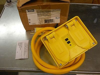 Hubbell Gfp20m Portable Gfci W Cord 120vac 4 Outlet Circuit Guard New In Box