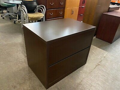 2dr 36wx24d Lateral File Cabinet By Hon Office Furniture In Espresso Laminate