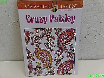 Crazy Paisley - COLORING BOOKS FOR ADULTS - 64 PAGE- LIKE NEW - Coloring Page For Adults