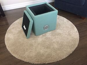 Foot stool with storage & sound systen