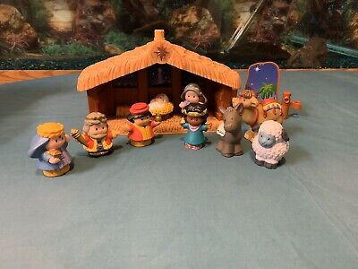 Fisher Price Little People Nativity Lot Of 11