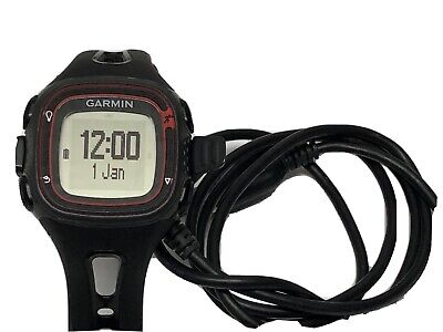 Garmin Forerunner 10 Black & Red GPS Running Watch with Charger