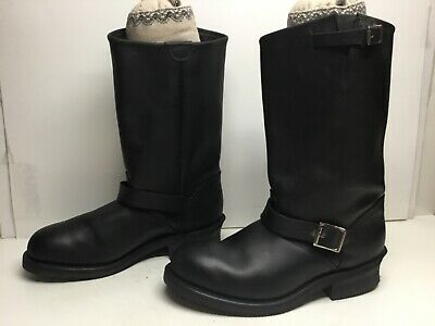 VTG MENS DOUBLE-H ENGINEER BLACK BOOTS SIZE 9.5 D