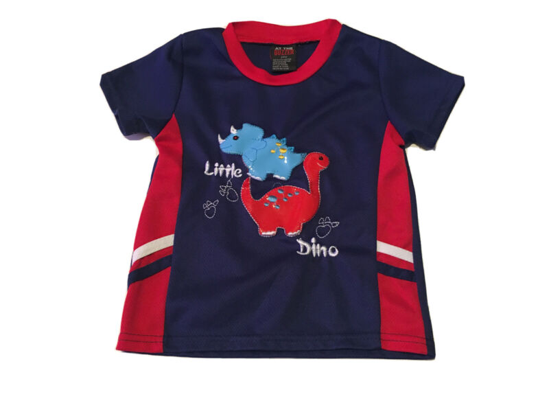 Toddler Boys Blue/Red At The Buzzer Little Dino T Shirt Size 24 Months