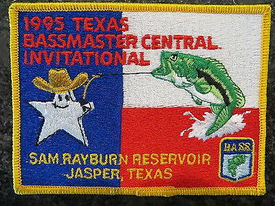 Rare Vintage Bassmaster Tournament Patch 1995 Texas Central Invitational