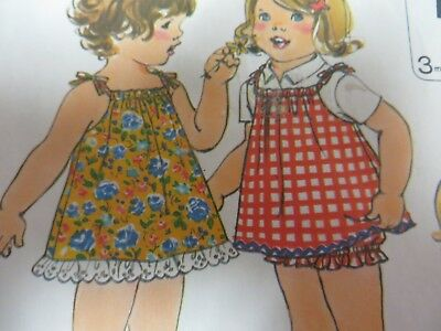 Jumper Bloomers (Vintage 70's Simplicity 8048 JUMPER & BLOOMERS Sewing Pattern Toddler Girls Sz 2)