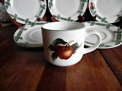 4 PC THE CADES COVE COLLECTION BY CITATION APPLES CUPS 3