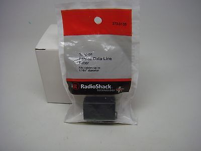 RADIO SHACK-SNAP-ON FERRITE DATA LINE FILTER FITS CABLES UP TO 17/64-(273-0105)