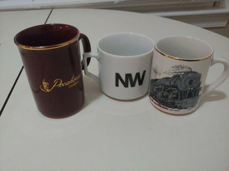Norfolk and Western Vintage Mugs